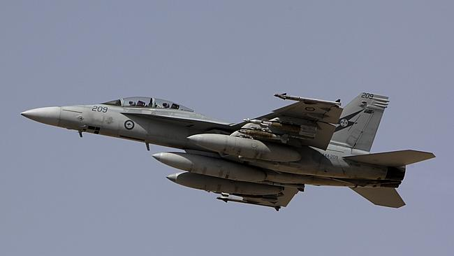 A Royal Australian Air Force F/A-18F Super Hornet.