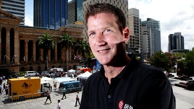 Simon Henry, co-CEO of Juwai.com in the hustle and bustle of King George Square outside B