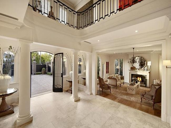 One of Rattle's luxurious interiors in Toorak. Picture homesoftherich.net