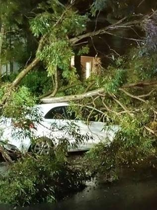 Sydney's Northern Beaches copped a belting from last night's storms. Picture: Facebook/Na