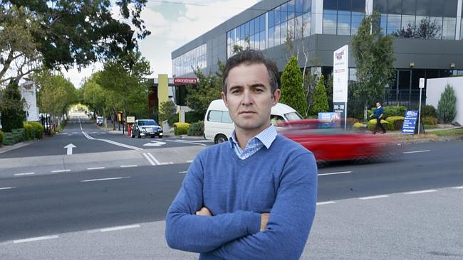 Rodney Andonopoulos is worried a new development at Virginia Park, Bentleigh East, will c
