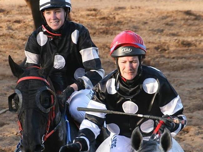 Jockey Desiree Gill (right) was regarded as a great mentor to the younger female riders.