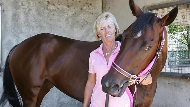 Gillian Heinrich with her Magic Millions winner Military Rose.