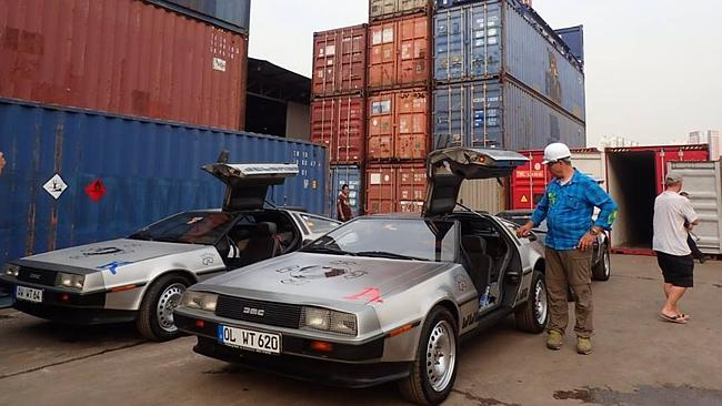 These three DeLorean DMC-12 cars have been held in customs for nearly a week in Darwin. P
