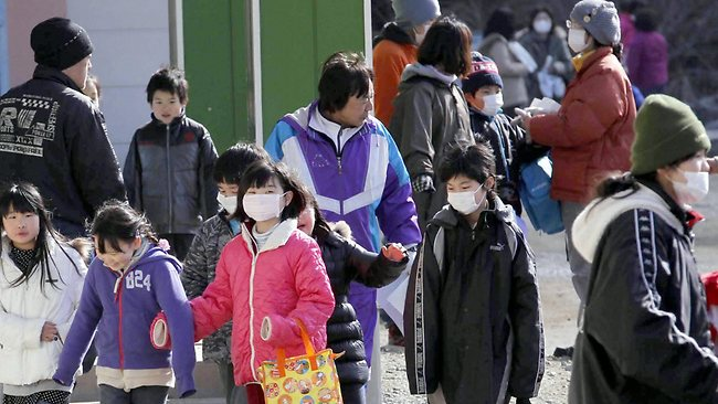 Japan Earthquake schoolchildren