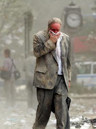 There is something about this man's dust-covered suit and general demeanour which makes this an unforgettable image