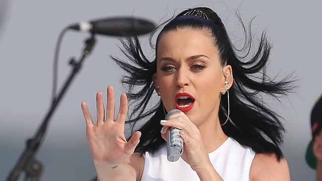 New queen of Twitter Katy Perry performed live on Sunrise while in Sydney last month. Picture: AP