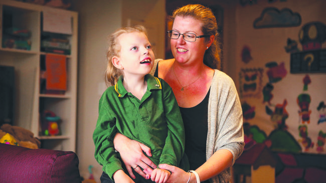 Katrina Young with her daughter Hannah.