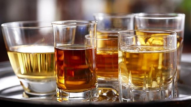 Deadly bet ... a man has died after consuming an entire bottle of whiskey to win a bet.