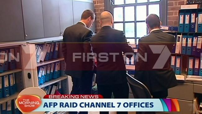 This morning's AFP raid on Channel 7 offices regarding the Schapelle Corby interview.