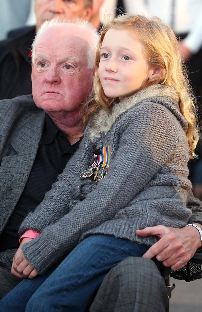 Robert Amour with granddaughter Katura Halleday.