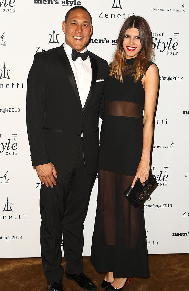 Geoff Huegill and wife Sara / Picture: Marianna Massey/Getty Images