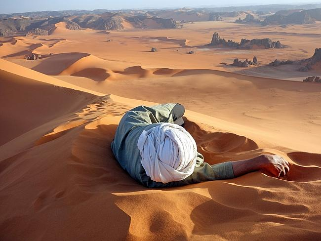 """A well earned rest in the Sahara"" by Evan Cole / National Geographic Traveler Photo Cont"