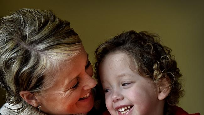 Mother Ali Malone with son Eddie, 4