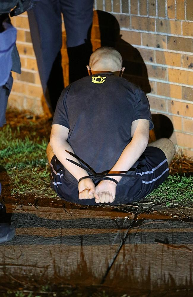 Police arrest a man in Guilford this morning.