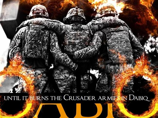 The disturbing apocalyptic cover of an earlier issue of Dabiq.