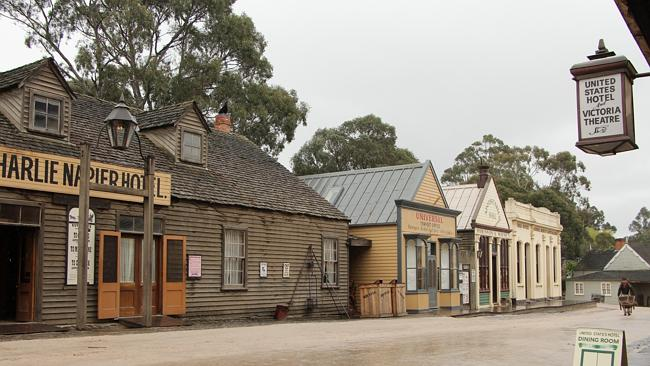 Step back in time...Sovereign Hill's main street, recreating boomtown Ballarat. Picture: