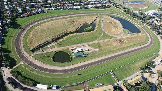 Aerial view of Doomben Racecourse in Brisbane, which leading trainers and jockeys suggest