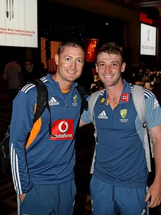 Clarke pictured with Hughes