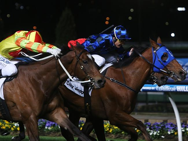 Damian Browne will ride Buffering (right) in Hong Kong.