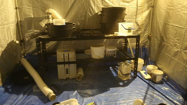 Police images of the lab uncovered in the raid in Kenthurst. Picture: NSW Police