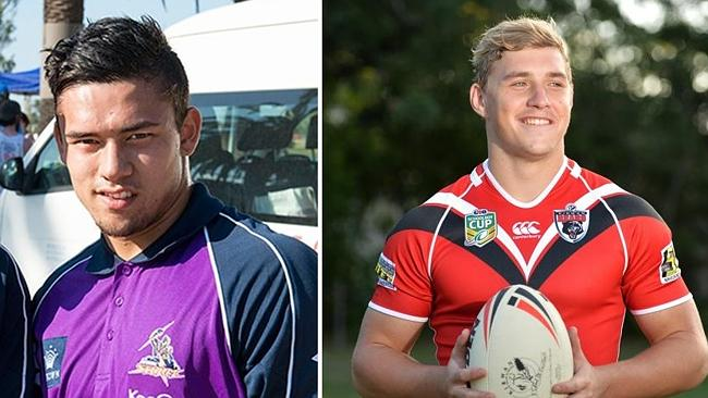 Rugby league is in mourning over the deaths of Mackay Cutters player Hayden Butler (left)