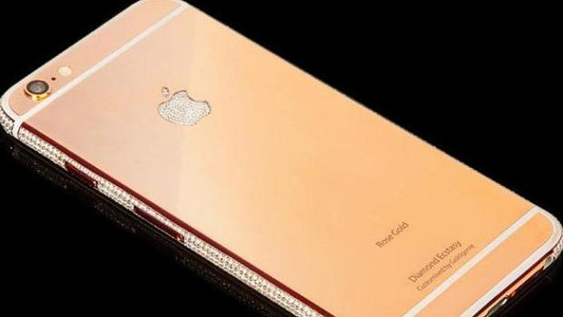 Bling ... Diamond Ecstasy iPhone 6 is worth $4.5 million. Picture: Goldgenie
