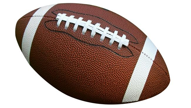 An American football ... not usually used as a simile when describing the size and shape