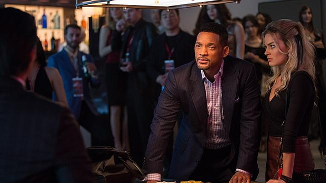 Tense ... Will Smith and Margot Robbie in Focus. Picture: AP Photo/Warner Bros. Pictures,