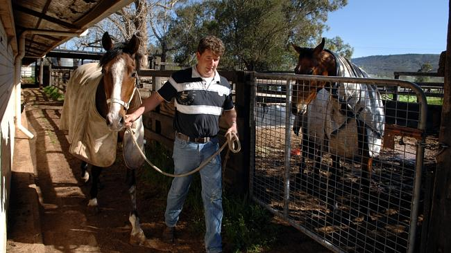 Trainer Luke Griffith at his racing stables in Scone.