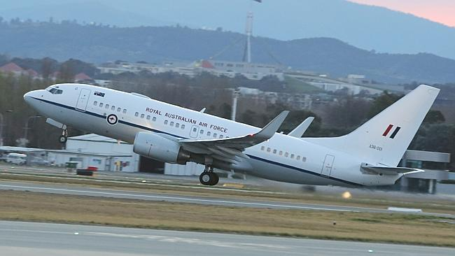 Prime Minister Tony Abbott's taxpayer-funded RAAF VIP plane.