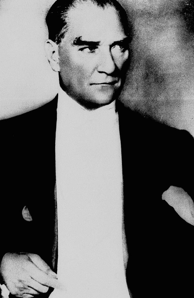 Founder of the modern Turkey ... Mustafa Kemal Ataturk, pictured in 1937. Picture: AP Pho