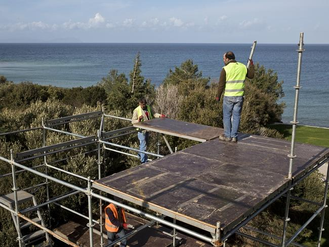 A key moment for Australia and for Turkey ... work has started at the dawn service site o