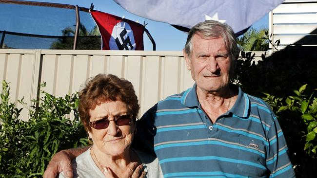 Burleigh Waters couple Patrick and Doreen Hinks are disgusted at their neighbour flying a