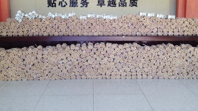 That's what $660,000 Yuan in coins looks like.