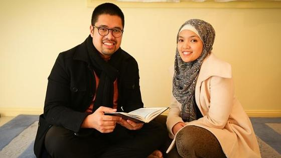 Abdulrahman Mawar and wife Asma Yusra at their home in Lakemba. Picture: Renee Nowytarger