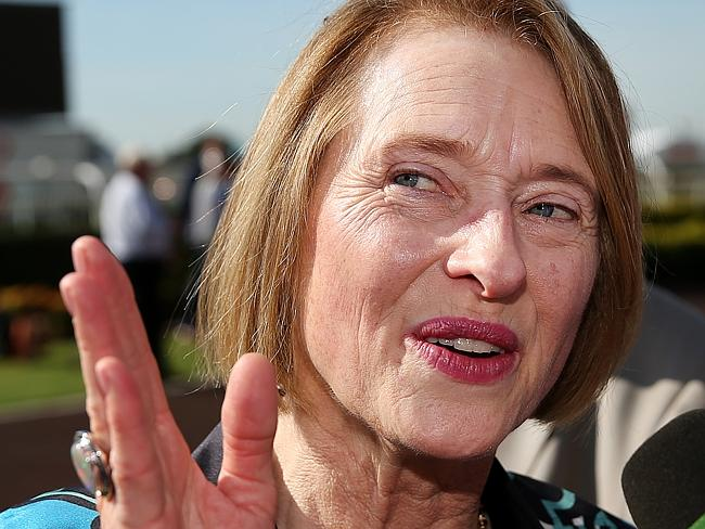 Gai Waterhouse says she was happy with how her horse, Wandjina, ran in the Diamond Jubile