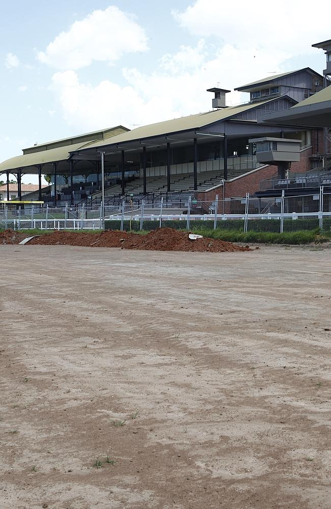 Eagle Farm racetrack during the early stages of the redevelopment.