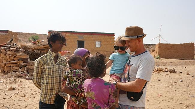 Visiting a village in Jaisalmer, India.