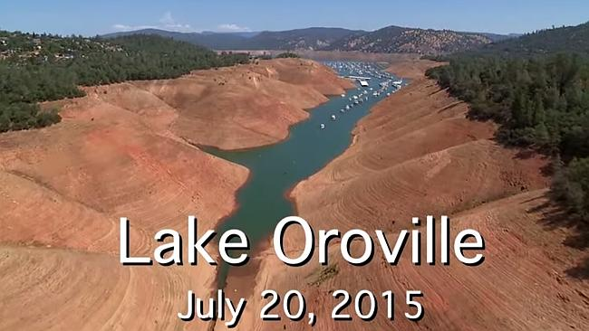 Lake Oroville is nearing record low water levels after a relentless drought in California