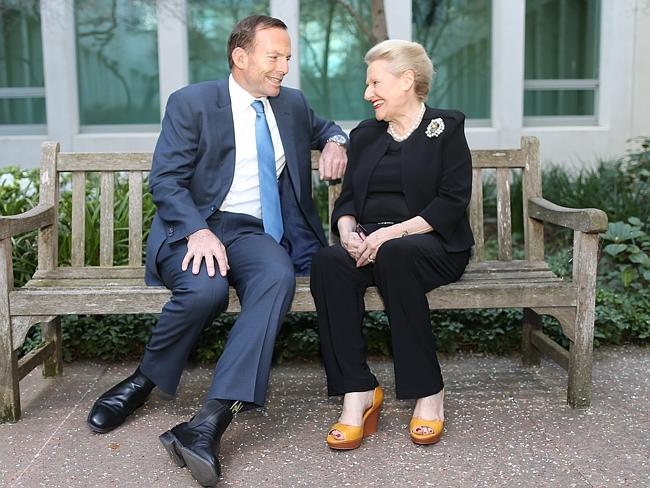 *** Embargo Until After Midnight*** The Prime Minister Elect, Tony Abbott, with his nominated person for the Speakers role-B...