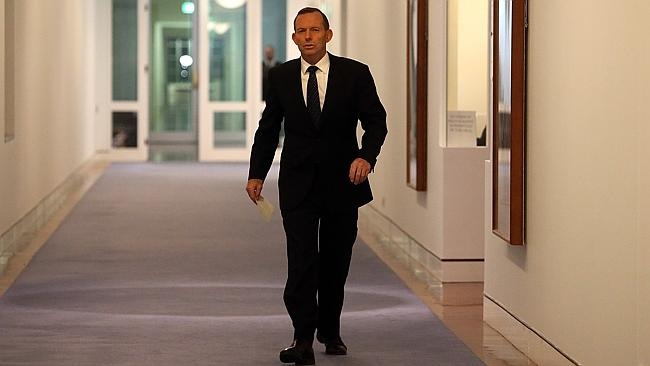 Going it alone ... Tony Abbott has dug in.