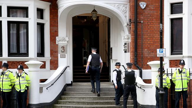 Avoiding extraditon ... Julian Assange has been living in the embassy since June 2012.