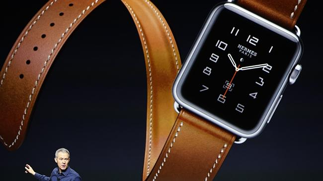 The new Hermes leather watch bands look great.