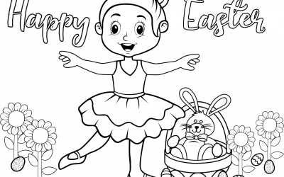 Top 5 Preschool Ballet Easter songs and Coloring Sheet