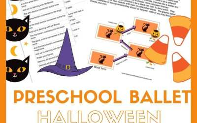 Halloween  Preschool Dance class plan and colouring pages