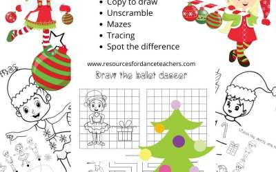 Free Christmas ballet coloring pages