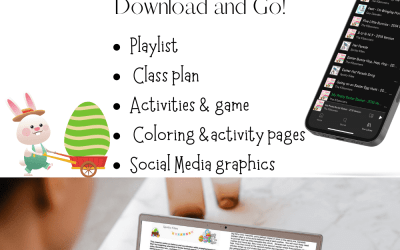 Preschool Easter Dance class plan & activity pack