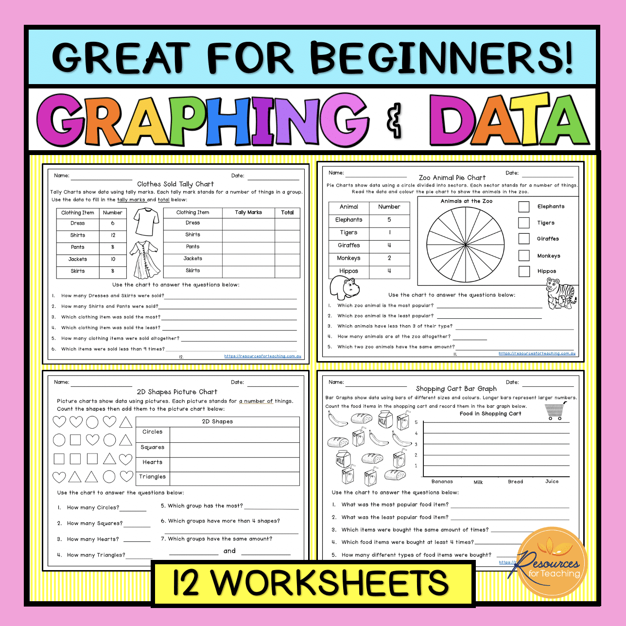 Graphing And Data Worksheets