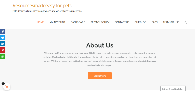 Best Pet Store in Nigeria: Resourcesmadeeasy for Pets